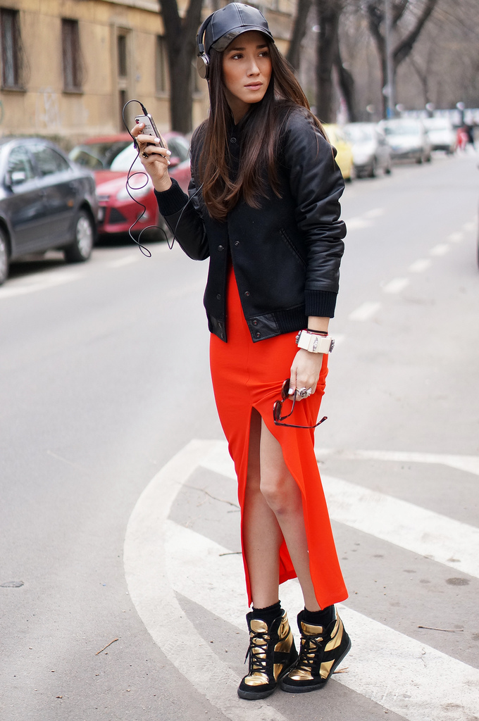 street style fashion diana enciu alina tanasa with calvin klein