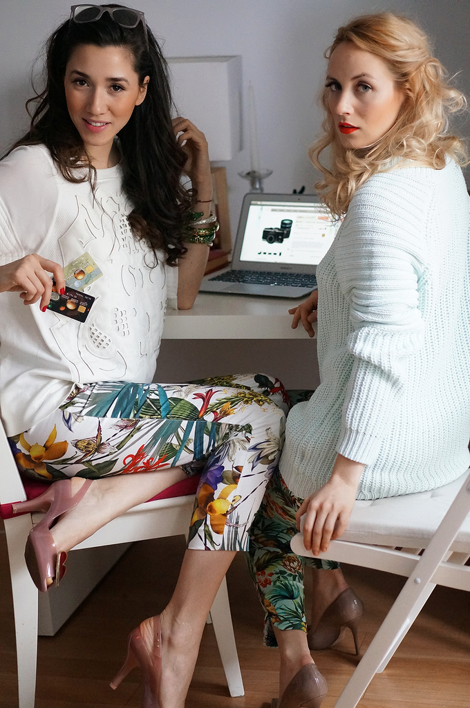 fabulous shopping online with diana enciu and alina tanasa and otp bank.