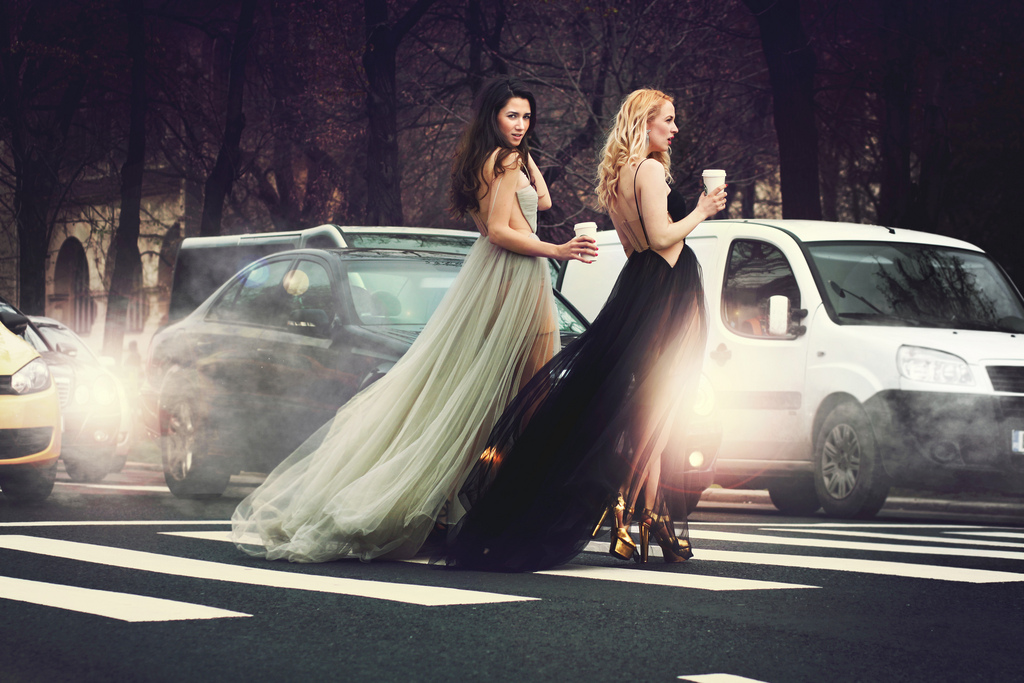 Street style with Maria Lucia Hohan dresses and fabulous muses - diana enciu and alina tanasa.