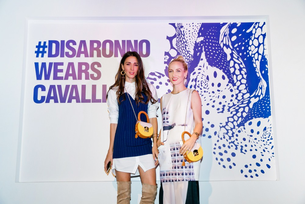 disaronno wears cavalli- dinner-cavalli dinner-disaronno cavalli bottle