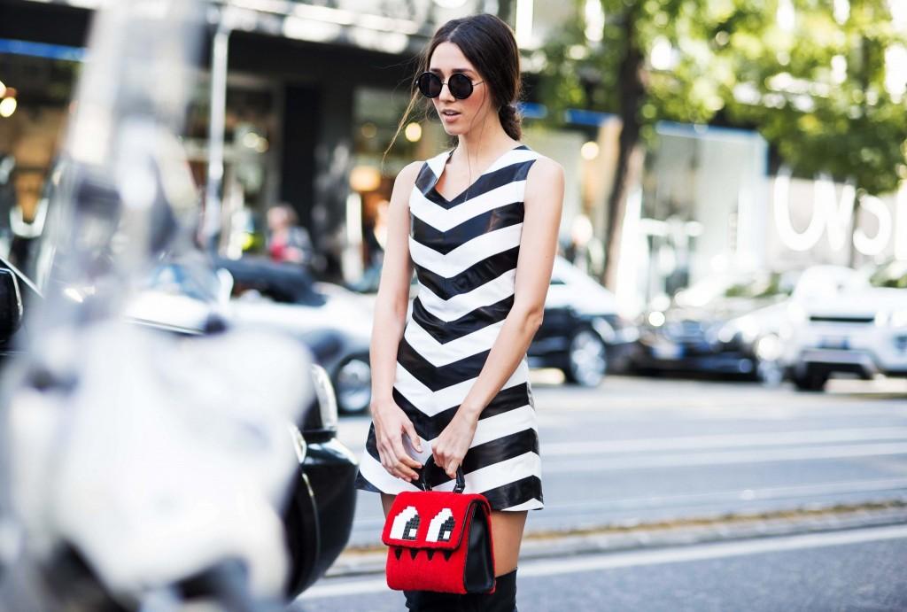 mfw ss 2016- fabulous muses-fabuloasele-milan street style- stripe dress