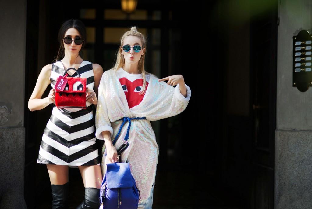 mfw ss 2016- fabulous muses-fabuloasele-milan street style- lego bag