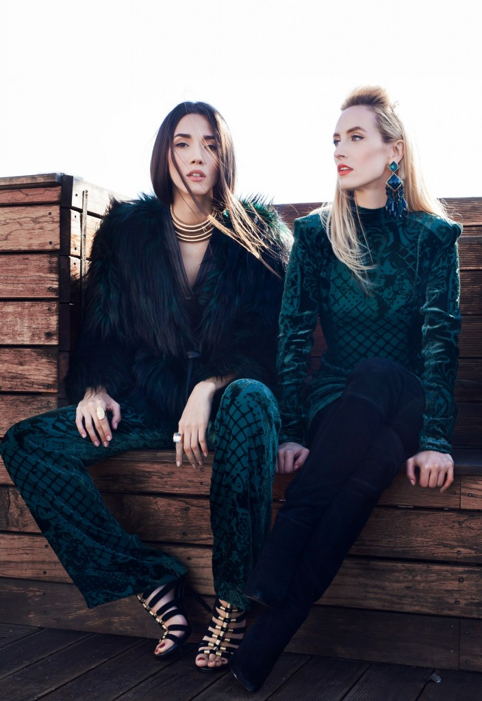 4Blamain x H&M Collection-balmaination-fabulous muses-balmain dress - colectie balmain x h&m - balmain collaboration