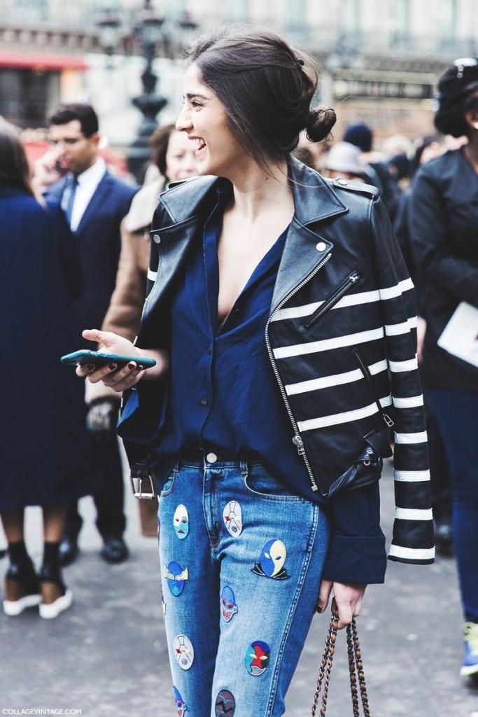 Paris_Fashion_Week-Fall_Winter_2015-Street_Style-PFW-Striped_Biker_Jacket-Stella_McCartney_Jeans-stripes-stripe-trendjpg