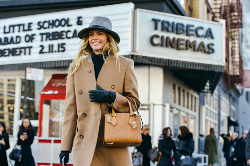 natasha poly- streetstyle - new york fashion week- camel coat-winter trends -fabulous muses