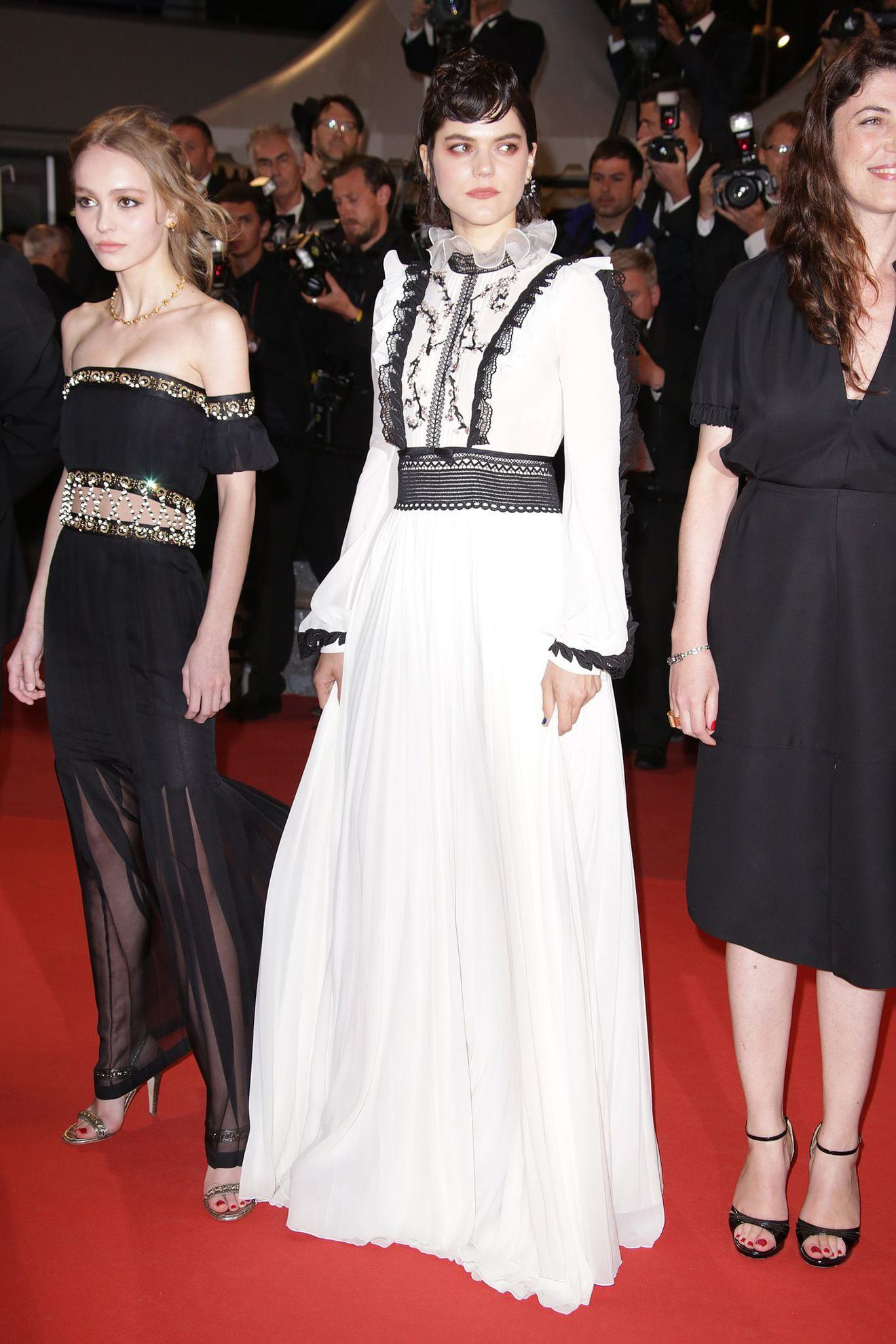 lily rose and soko at cannes