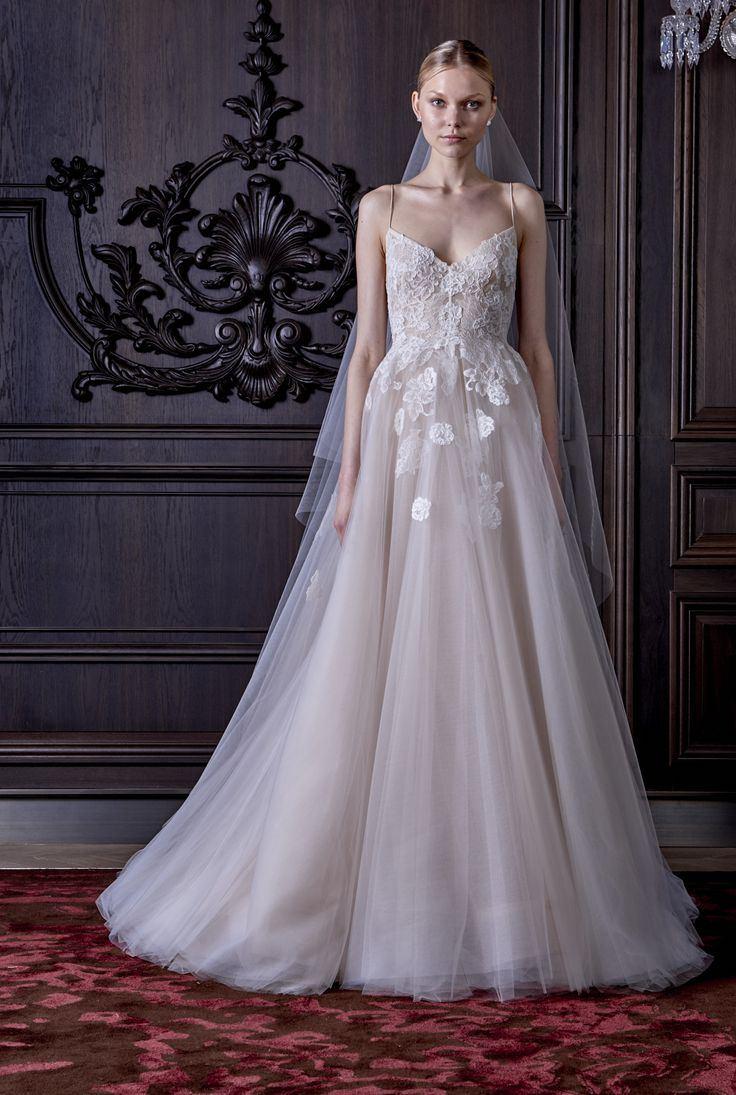 floral trends Monique Lhuillier bridal ss 2016