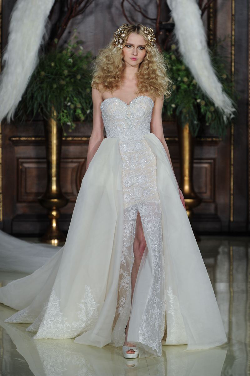 the overskirt Galia Lahav bridal ss 2016