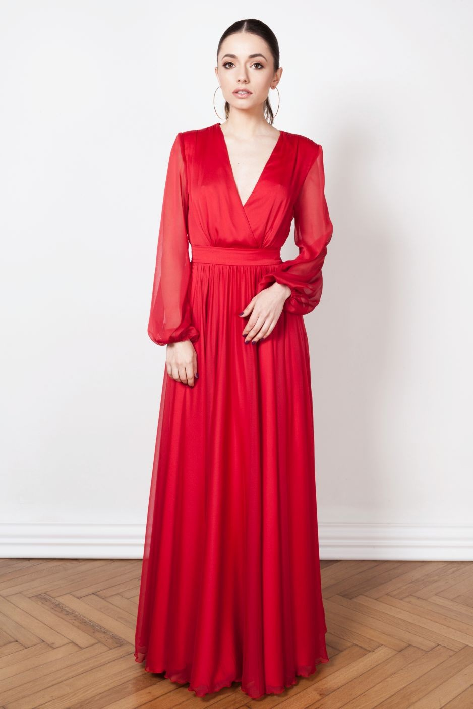 12-rochie-maxi-rosie-cloche-20-de-idei-de-rochii-pentru-craciun-fabulous-muses